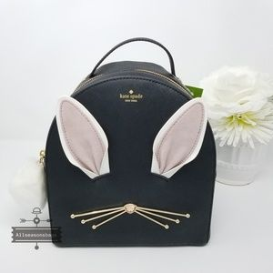 Kate spade rabbit leather hop to it backpack bag